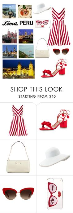 """""""City Guide in Lima, Perú"""" by bmackler ❤ liked on Polyvore featuring RED Valentino, WithChic, Kate Spade, Eric Javits and Dolce&Gabbana"""