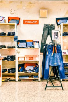 Torland Jeans at Vintage Fabrik Vintage Market, Loft, Bed, Jeans, Furniture, Home Decor, Vintage Marketplace, Decoration Home, Stream Bed
