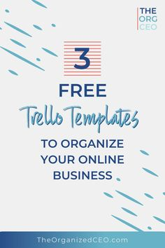 Get these free Trello templates for online entrepreneurs, coaches, consultants, bloggers, and digital product creators. Organize your business with these free Trello templates. The 3 boards include the biz dashboard, productivity planner, and system and processes. Trello Templates, Business Organization, Online Entrepreneur, Online Jobs, Coaches, Make Money From Home, Productivity, Online Business, Organize