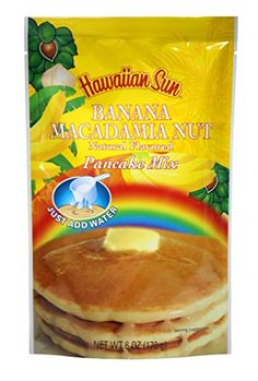 Banana Macadamia Nut Pancake Mix 6 Ounce by Hawaiian Sun *** Visit the image link more details.(This is an Amazon affiliate link and I receive a commission for the sales) #BakingMixes