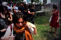 The first day of GeziPark Resist. The Photo was taken by Ruters and became The symbol of The Resist.