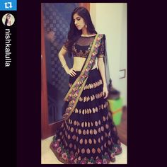 #Repost @nishkalulla with @repostapp. ・・・ In a BEAUTIFUL @neeta_lulla Lehenga tonight !! Thank u for the amazing makeup and hair always my lovely @makeupbyreemapatil @houseofneetalulla