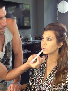 Kourtney Kardashian Khroma Beauty Makeup Au Naturel Lip Color Rob Scheppy