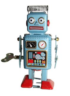 Reproduction 1950s/60s era wind up robot toy