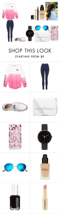 """""""Untitled #476"""" by kalieh092 on Polyvore featuring Victoria's Secret, Topshop, Converse, Tory Burch, Kate Spade, I Love Ugly, Ray-Ban, Essie, Napoleon Perdis and Marc Jacobs"""