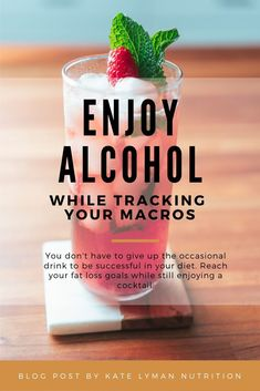 You can drink alcohol while tracking your macros. But if you have fat loss or performance goals, there are some things to consider. Learn more about how to track alcohol & a few macro-friendly cocktail recipes here! Macro Nutrition, Nutrition Tips, Health And Nutrition, Health And Wellness, Men Health, Nutrition Program, Nutrition Education, Health Tips, Herbalife Nutrition