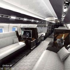 Interior. #luxuryprivatejet