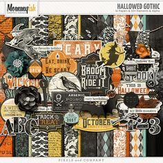 Hallowed Gothic by Mommyish #scrapbook #digiscrap