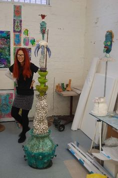 Jenny Orchard and her awesome totems