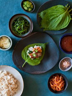 """Bo Ssam. This tasty Korean style """"build your own taco"""" dish is a fun dish to serve at get togethers."""