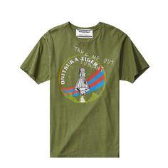 Onitsuka Tiger Men's and Women's printed short-sleeved T-shirts