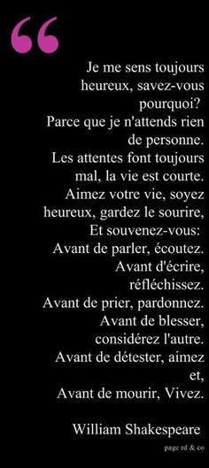 shakespeare love quotes in french – Love Kawin William Shakespeare, Positive Mind, Positive Attitude, Quote Citation, French Quotes, Learn French, Some Words, Words Quotes, Time Quotes