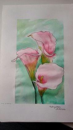 Watercolour lilia