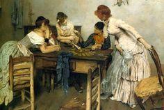 La Chiromante by Ettore Tito (Italian 1859 - 1941).