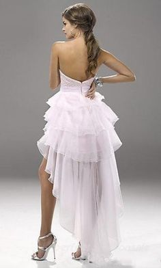 reception wedding dress. i want something long in the back like this and short in the front for dress #2