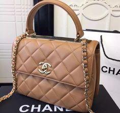 Chanel Handbag / Only Me 💋💚💟💖✌✔👌💙💚 xoxo Gucci, Fendi, Givenchy, Luxury Bags, Luxury Handbags, Chanel Handbags, Purses And Handbags, Tan Handbags, Chanel Tote