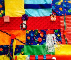 Fidget Quilt BRIGHTLY COLORED  BUTTERFLIES by RestlessRemedy