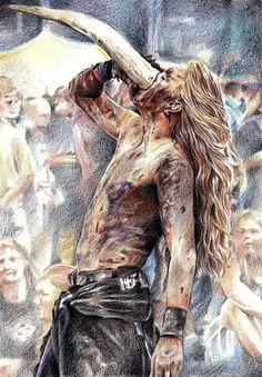 MEAD! #Vikings #Norse #drinkinghorn