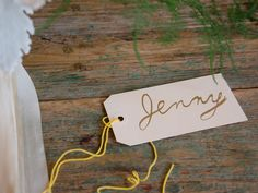 small stump and studio choo - Home  -Tags with Bride, MofH, bridesmaids etc.  laminate and re-use each week??