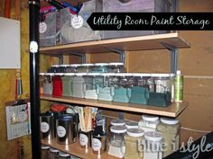 Blue i Style: {organizing with style} Paint Storage Solutions Repaint paint cans for storage