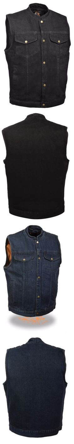Vests 15691: Men S Motorcycle Snap Front Denim Soa Club Style Vest W Gun Pocket -> BUY IT NOW ONLY: $49.99 on eBay! http://www.99wtf.net/category/young-style/