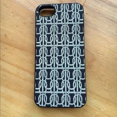 J. Crew iPhone 5/5s case Navy blue case. Bendy plastic, hardly used but is a little bent. Can easily be formed back once put on the phone! J. Crew Other