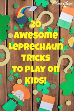 Those sneaky leprechauns love to pay kids a visit around St. Check out these fun ideas for leprechaun tricks! St Patricks Day Crafts For Kids, St Patrick's Day Crafts, March Crafts, Book Crafts, Kids Crafts, Arts And Crafts, St Patrick Day Activities, Fun Activities, Leprechaun Trap