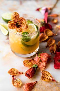 Spicy Gingered Mango Margarita | halfbakedharvest.com #cincodemayo #drinks #mexican