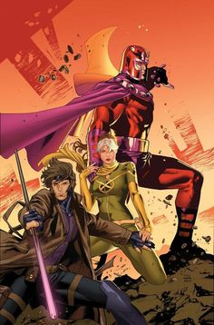 Magneto, Rogue and Gambit by Clay Mann