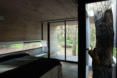 concrete house in the forest (April and May: interior)