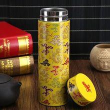 Best Selling estilo chinês garrafa térmica de aço inoxidável café de chá de água balão de vácuo garrafa térmica copo presente criativo caneca isolada(China (Mainland))