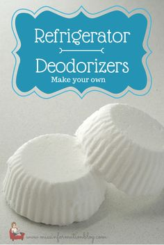 Get lingering food smells out of your fridge with these easy to make, homemade refrigerator deodorizers. Just 3 ingredients! Get the instructions here.