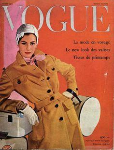 1955: Guy Bourdin's first Vogue Paris cover shoot