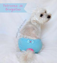 Mimi y Tara | Patrones de ropa para perros: Patrones de braguitas para perro