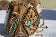labradorite macrame bracelet micro macrame. by AdiVardiJewelry
