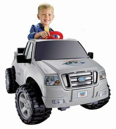Kids Ride On Vehicle Toy Battery Powered Power Wheels Lil' Ford F-150 6-Volt #KidsRideOnVehicleToy