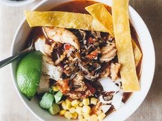 Tortilla Soup with Wild Rice | Adding wild rice to tortilla soup gives it a nice nutty flavor and satisfying texture.