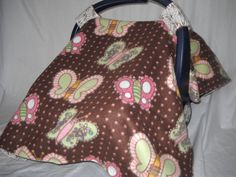 Universal Fit Fleece Butterfly Carseat cover by Lucary on Etsy, $28.00