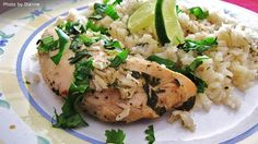 Slow Cooker Lime Chicken with Rice  Simple and healthy!