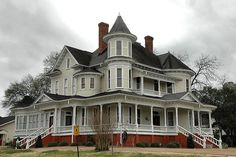 Hawkinsville GA Pulaski County Victorian Architecture House Landmark Rural Southern USA Picture Pictures Photo Copyright Brian Brown Vanishing South Georgia