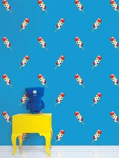Push Pops Blue Peel and Stick Wallpaper