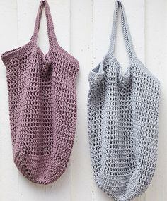 Hækl dit eget indkøbsnet, som kan erstatte engangsplastikposer, når du handler. Nettet er både funktionelt og fint. Få hækleopskriften her! Crotchet Bags, Crochet Tote, Crochet Handbags, Free Crochet, Knit Crochet, Diy Crafts Crochet, Crochet Projects, Diy Handbag, Linen Bag