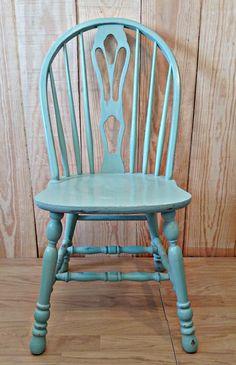 silla vintage verde pastel