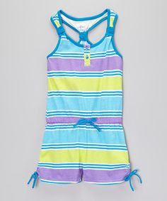 This Royal Stripe Romper - Toddler & Girls by Star Ride is perfect! #zulilyfinds