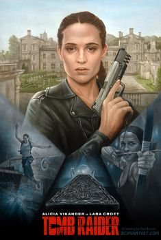 Tomb Raider Oil Painting by Paul Burrow