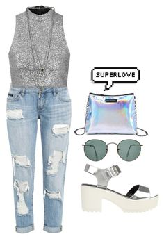 superlove by melanie-pacheco on Polyvore featuring moda, Topshop, River Island, Miss Selfridge and Ray-Ban