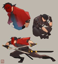 What Jason from Batman Ninja should have looked like- oh well at least he had hair and was somewhat on character UNLIKE DAMIAN Nightwing, Character Concept, Character Art, Red Hood Comic, Ninja Red, Batman Fan Art, Tim Drake Red Robin, Batman Ninja, Red Hood Jason Todd