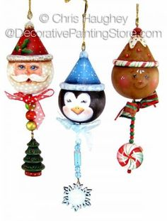 Christmas dangler buddy ornaments ePattern - Chris Haughley