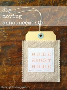 "That's My Letter: ""M"" is for Moving Announcement"
