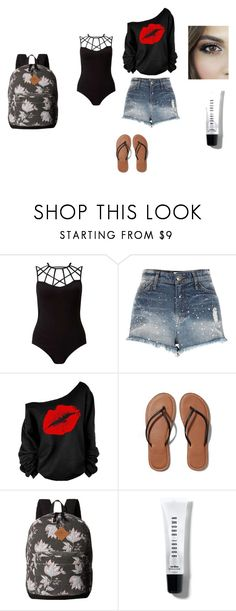 """""""Kenzie_Beach"""" by logikitty on Polyvore featuring Miss Selfridge, River Island, Abercrombie & Fitch, O'Neill and Bobbi Brown Cosmetics"""